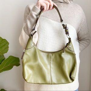 Nine West Green Small Shoulder Bag Vegan Leather
